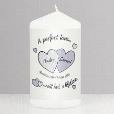 A Perfect Love Wedding Candle delivery to UK [United Kingdom]