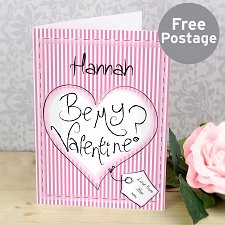 Be My Valentine Card delivery to UK