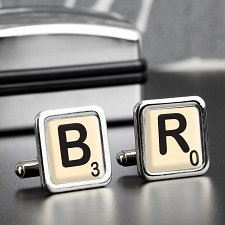 Personalised Initial and Age Cufflinks