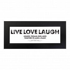 Personalised Live Love Laugh Name Frame UK [United Kingdom]