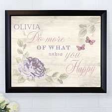 Personalised Secret Garden Poster Frame