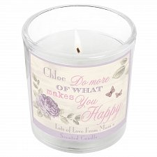 Personalised Secret Garden Scented Jar Candle delivery to UK [United Kingdom]