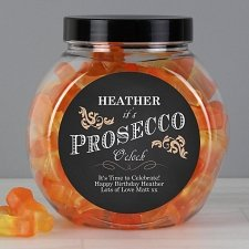 Personalised Its Prosecco O Clock Prosecco Gummies Jar UK [United Kingdom]