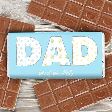 Dad Pattern Chocolate Bar delivery to UK [United Kingdom]