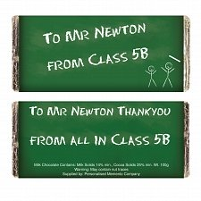 Personalised Green Chalk Board Milk Chocolates Bar