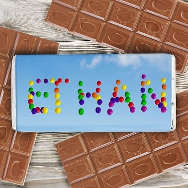 Personalised Balloons Milk Chocolates Bar