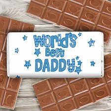 Personalised Patterns World's Best Milk Chocolates Bar