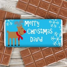 Christmas Reindeer Chocolate Bar