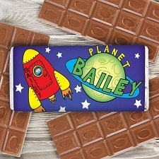 Personalised Space Milk Chocolates Bar