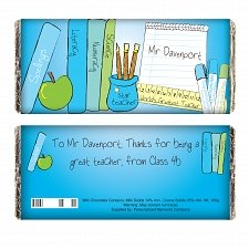 Personalised Teacher Male Milk Chocolates Bar