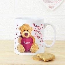 Personalised Teddy Heart Mug