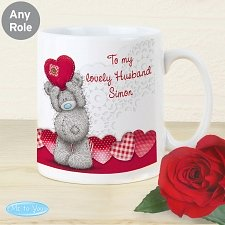 Personalised Me To You Heart Mug