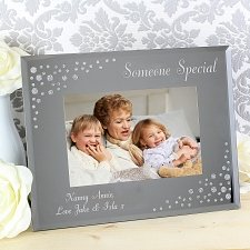 Personalised Any Message 6x4 Glass Photo Frame UK [United Kingdom]