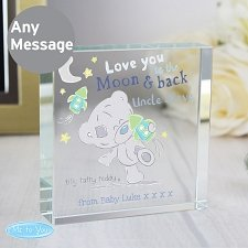 Personalised Tiny Tatty Teddy To the Moon and Back Large Crystal Token delivery to UK [United Kingdom]