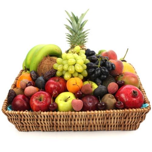 Surprising Premium Fruit Basket Online Gift Delivery Uk Expressgiftservice Easy Diy Christmas Decorations Tissureus