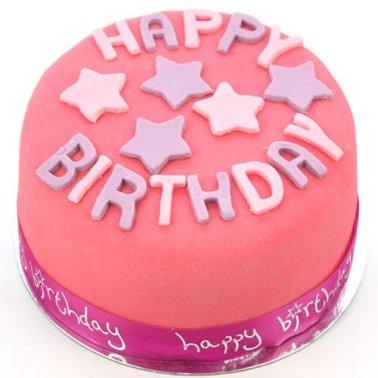 Egg Free Happy Birthday Pink Cake delivery to UK [United Kingdom]