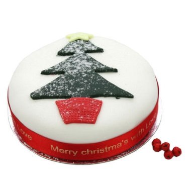 Christmas Tree Fruit Cake delivery UK