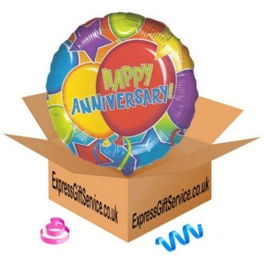 Happy Anniversary Glitter Balloon delivery to UK