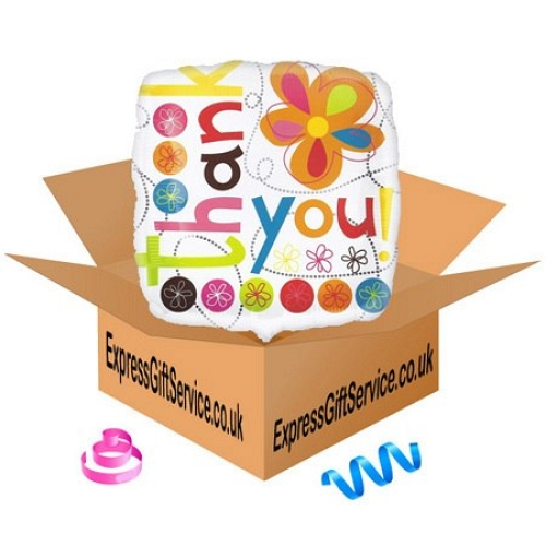 Thank You Colourful Flowers Balloon Delivery to UK