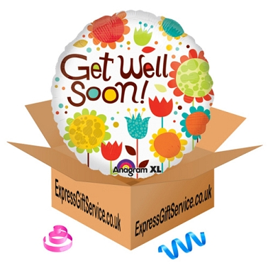 Cheery Flowers Get Well Foil Balloon Delivery to UK