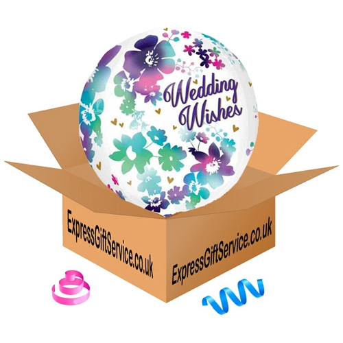 Orbz Watercolour Wedding Wishes Balloon Delivery to UK