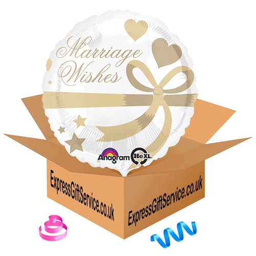 Marriage Wishes Standard Foil Balloon Delivery to UK