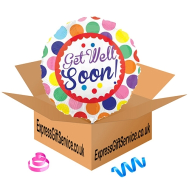 Get Well Soon Dots Foil Balloon Delivery to UK