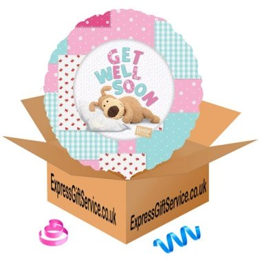 Boofle Get Well Soon Foil Balloon Delivery to UK