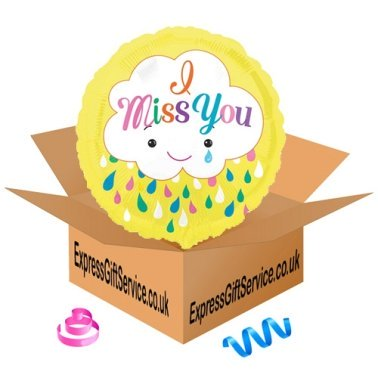 Miss You Cloud Foil Balloon Delivery to UK