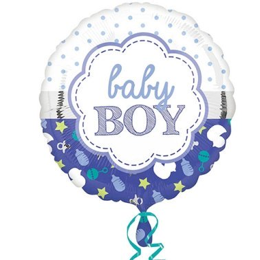 Baby Boy Scallop Balloon delivery UK