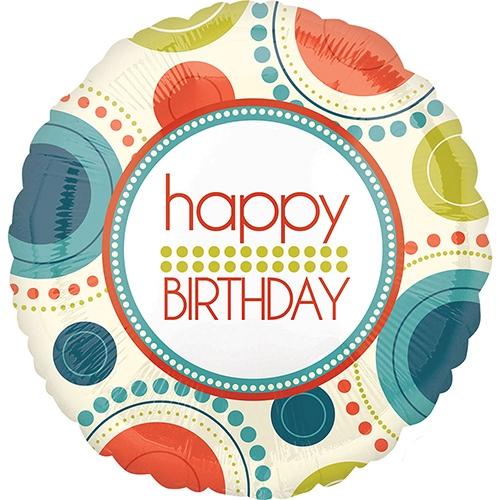 Happy Birthday Circle Fun Balloon delivery to UK
