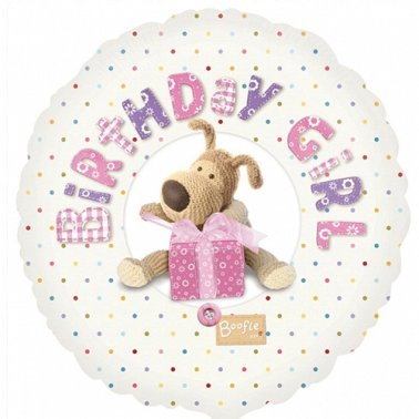 Boofle Happy Birthday Pink Balloon Delivery to UK