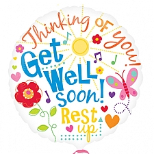 Get Well Messages Balloon Delivery to UK