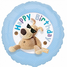Boofle Happy Birthday Blue Balloon Delivery to UK