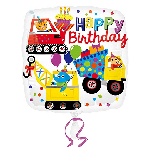 Happy Birthday Construction Balloon Delivery to UK