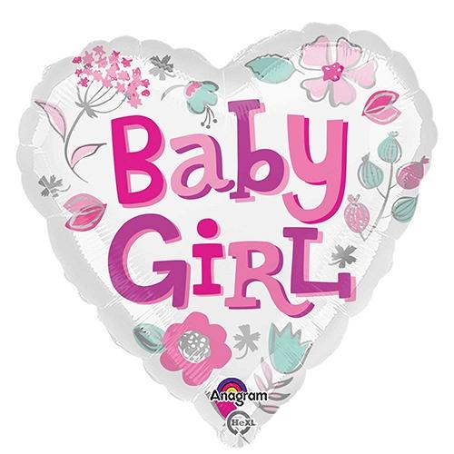 Baby Girl Heart Balloon delivery UK