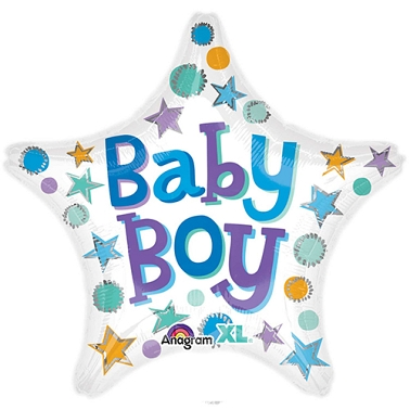 Baby Boy Star Balloon delivery to UK [United Kingdom]
