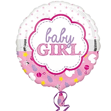 Baby Girl Scallop Balloon Delivery to UK