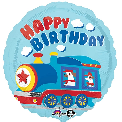 All Aboard Happy Birthday Balloon delivery to UK [United Kingdom]