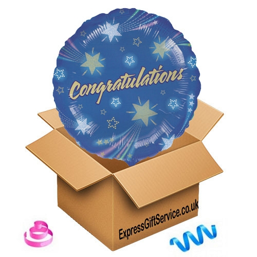 Congratulations Star Balloon delivery to UK [United Kingdom]