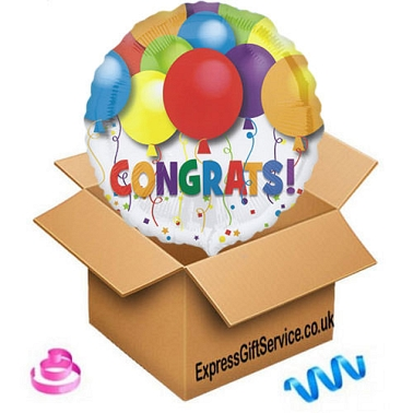Congratulations Balloon delivery to UK [United Kingdom]