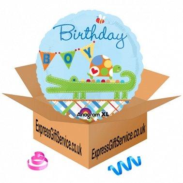 Alligator Birthday Boy Foil Balloon Delivery to UK