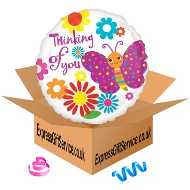 Cute Butterfly Thinking of You Balloon Delivery to UK