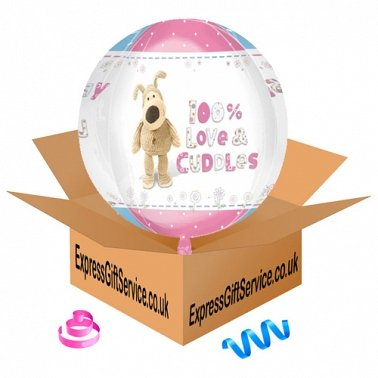 Boofle Happy Birthday Orbz Foil Balloon Delivery to UK