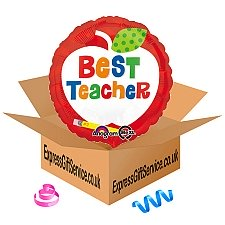 Best Teacher Apple Foil Balloon Delivery to UK
