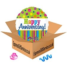 Bright Anniversary Foil Balloon Delivery to UK