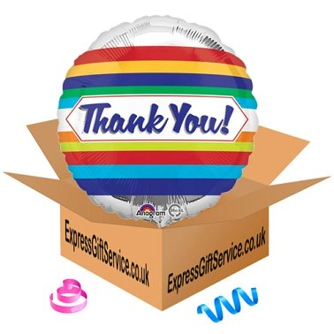 Thank You Stripes Foil Balloon Delivery to UK