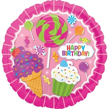 Sweet Shop Birthday Standard Foil Balloon Delivery to UK