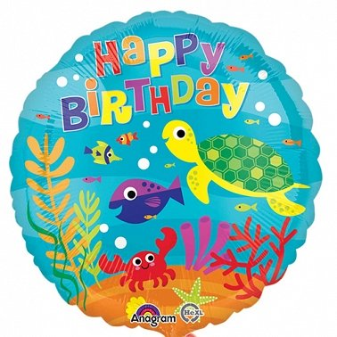 Under the Sea Happy Birthday Balloon Delivery to UK