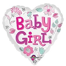 Baby Girl Heart Balloon delivery UK